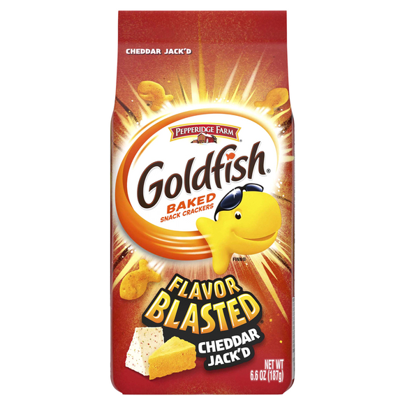 Goldfish Flavour Blasted Cheddar Jack'd Crackers (6.6 oz)