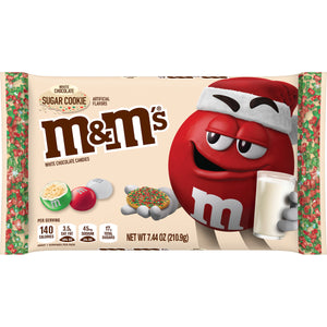 M&M'S White Chocolate Sugar Cookie Christmas Chocolate Candy (7.44oz)