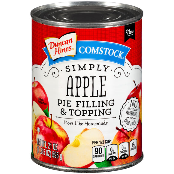 Duncan Hines Comstock Simply Apple Pie Filling & Topping (21oz)