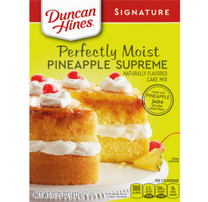 Duncan Hines Perfectly Moist Pineapple Supreme Cake Mix (15.25oz)