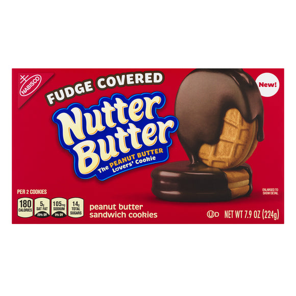 Nutter Butter Peanut Butter Fudge Covered (7.9oz)