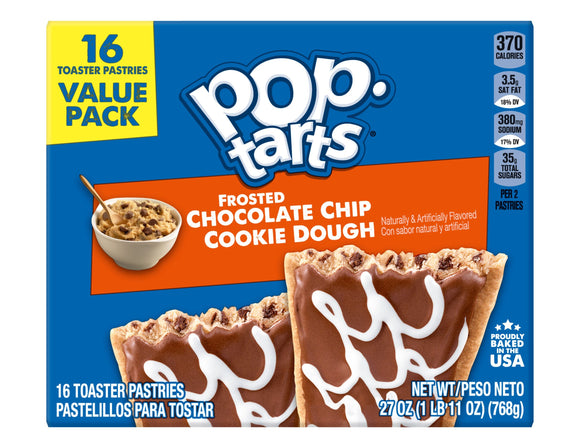 Pop-Tarts Frosted Chocolate Chip Cookie Dough (27oz)