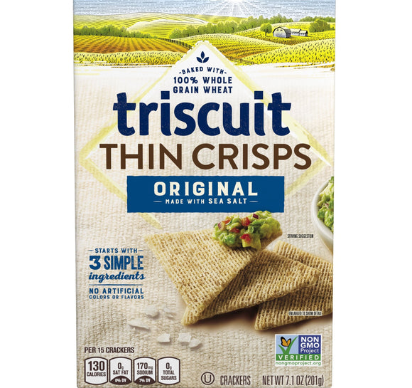 Triscuit Thin Crisps Original Whole Grain Wheat Crackers (7.1oz)