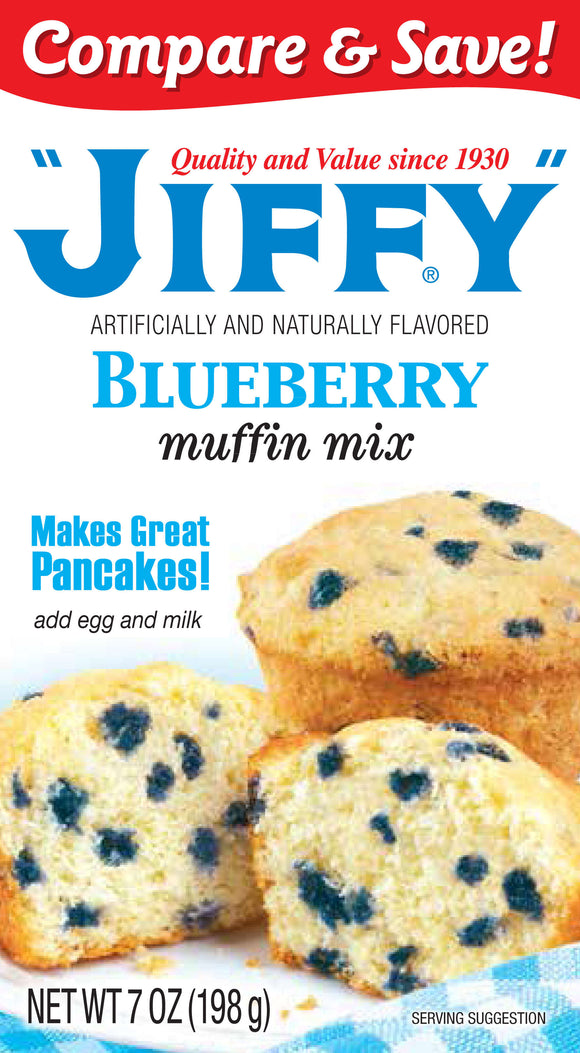 Jiffy Blueberry Muffin Mix (7oz)