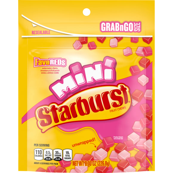 Starburst FaveReds Minis Fruit Chews (8oz)