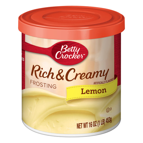 Betty Crocker Rich and Creamy Lemon Frosting (16oz)