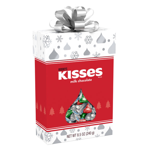 Hershey's Kisses Milk Chocolate Candy Holiday Gift Box (8.5oz)