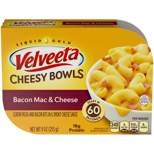 Velveeta Cheesy Bowls Bacon Mac & Cheese (9oz)