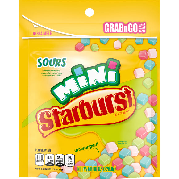 Starburst Minis Sours Fruit Chews (8oz)