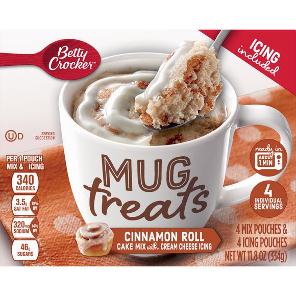 Betty Crocker Mug Treats Cinnamon Roll (11.8oz)