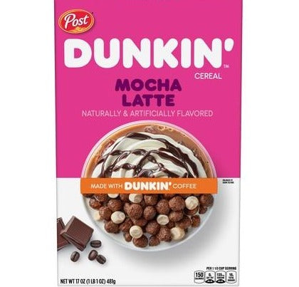 Post Dunkin' Mocha Latte Cereal (17oz)