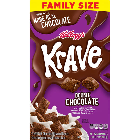 Kellogg's Krave Double Chocolate Cereal (16.7oz)