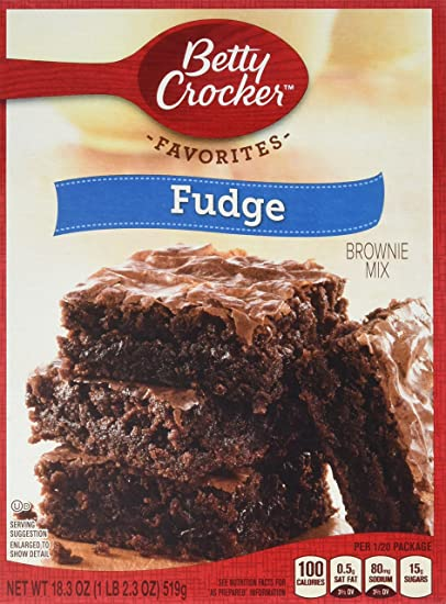 Betty Crocker Fudge Brownie Mix (18.3oz)