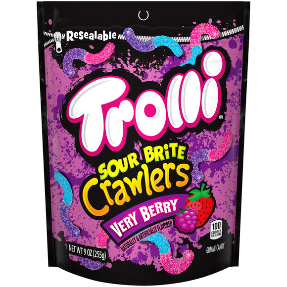 Trolli Sour Brite Crawlers Very Berry (9oz)