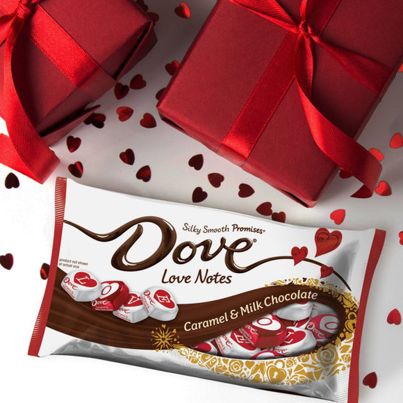 Dove Valentine's Day Caramel & Milk Chocolate Love Notes (8.87oz)