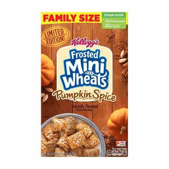 Frosted Mini Wheats Pumpkin Spice Cereal (22oz)