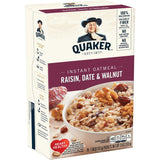 Quaker Raisin, Date & Walnut Instant Oatmeal (13oz)