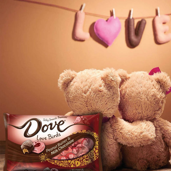 Dove Valentine's Day Peanut Butter & Milk Chocolate Love Birds (7.94oz)