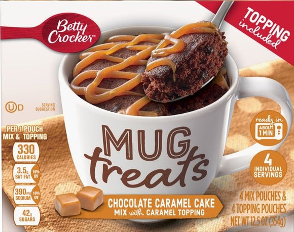 Betty Crocker Mug Treats Chocolate Caramel Cake Mix (12.5oz)