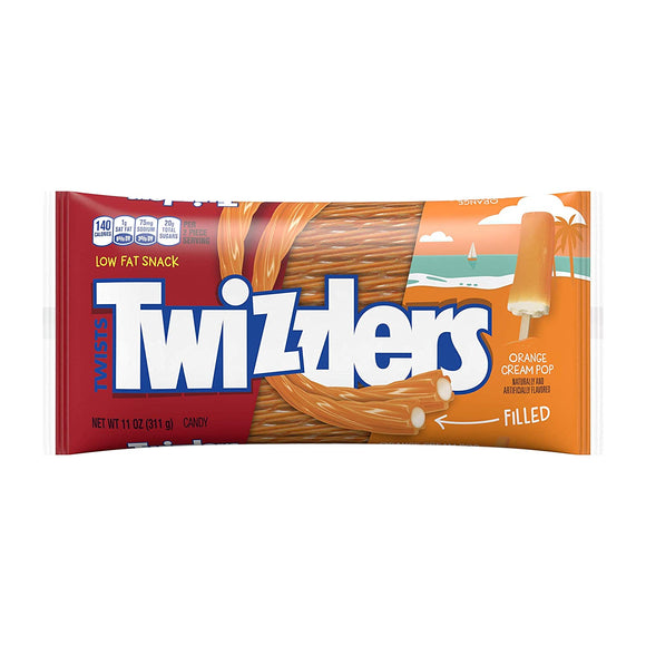 Twizzlers Orange Cream Pop Filled Twists (11oz)