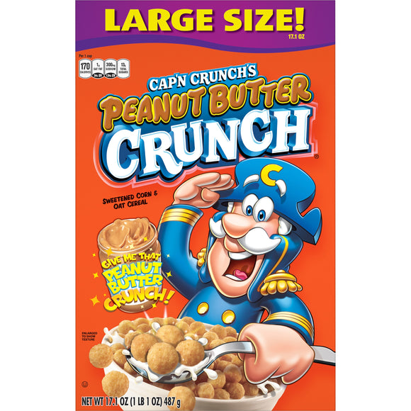 Cap'n Crunch Peanut Butter Crunch (17.1oz)