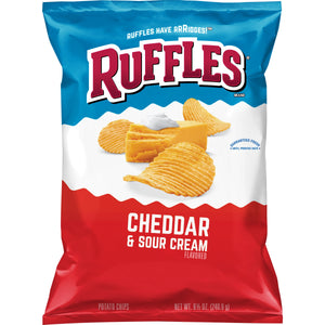 Ruffles Cheddar and Sour Cream Potato Chips (8.5oz)