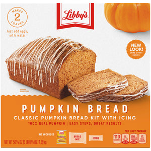 LIBBY'S Classic Pumpkin Bread Kit with Icing (56.1oz)