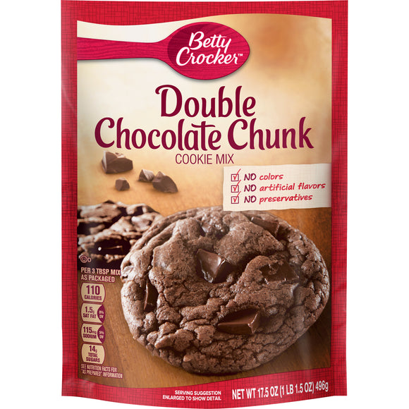 Betty Crocker Double Chocolate Chunk Cookie Mix (17.5oz)