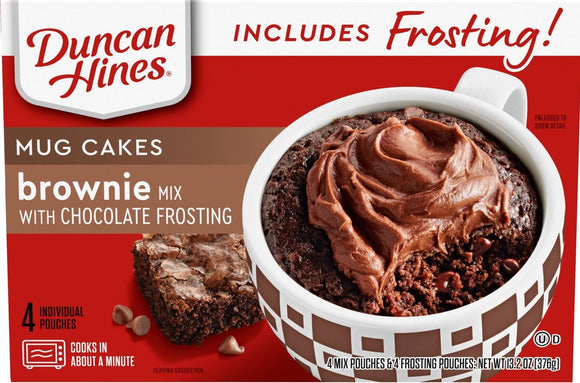 Duncan Hines Brownie Cake Mix with Chocolate Frosting (14.4oz)