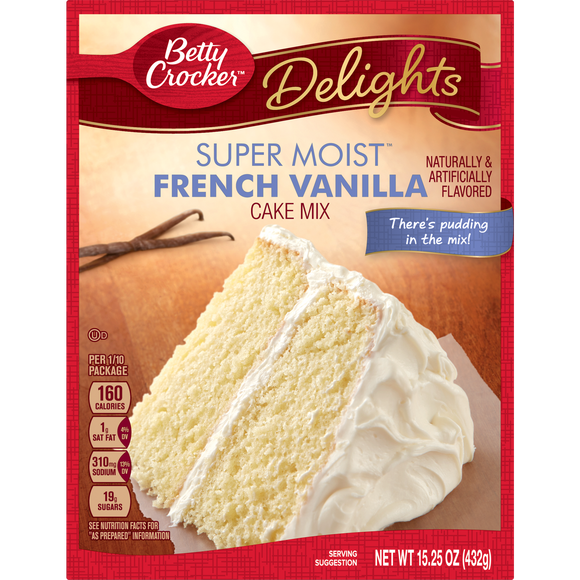Betty Crocker Super Moist French Vanilla Cake Mix (15.25oz)