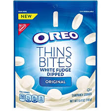Oreo Thins Bites White Fudge Dipped (6.4oz)