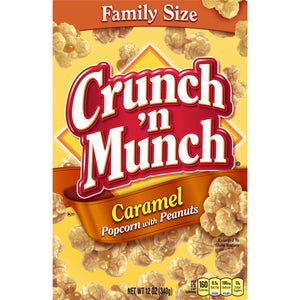 Crunch 'n Munch Caramel Popcorn with Peanuts (12oz)