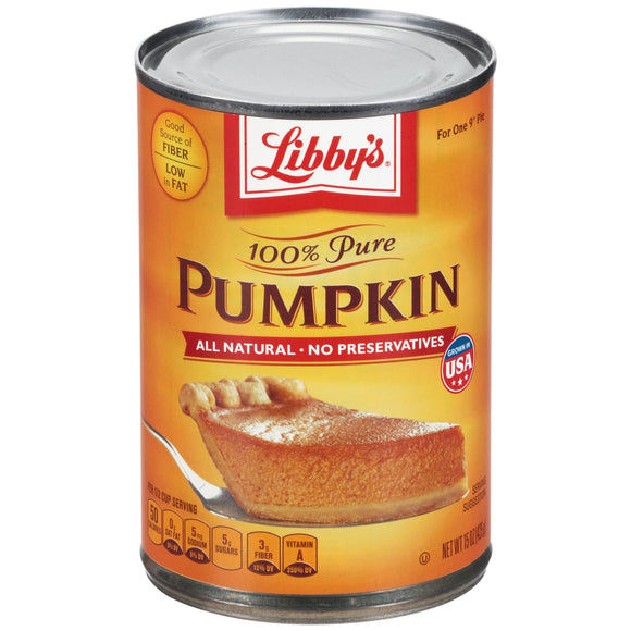 Libby's 100% Pure Pumpkin (15oz)