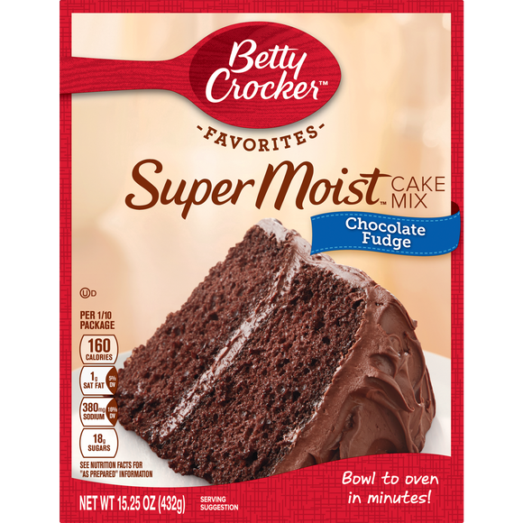 Betty Crocker Super Moist Chocolate Fudge Cake Mix (15.25oz)