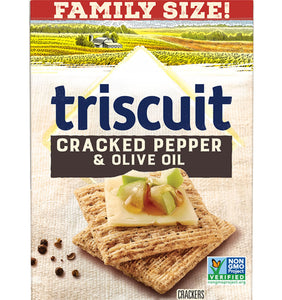 Triscuit Cracked Pepper & Olive Oil Whole Grain Wheat Crackers (12.5oz)