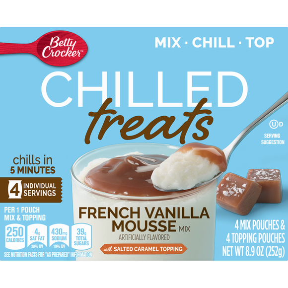 Betty Crocker Chilled Treats French Vanilla Mousse (8.9oz)