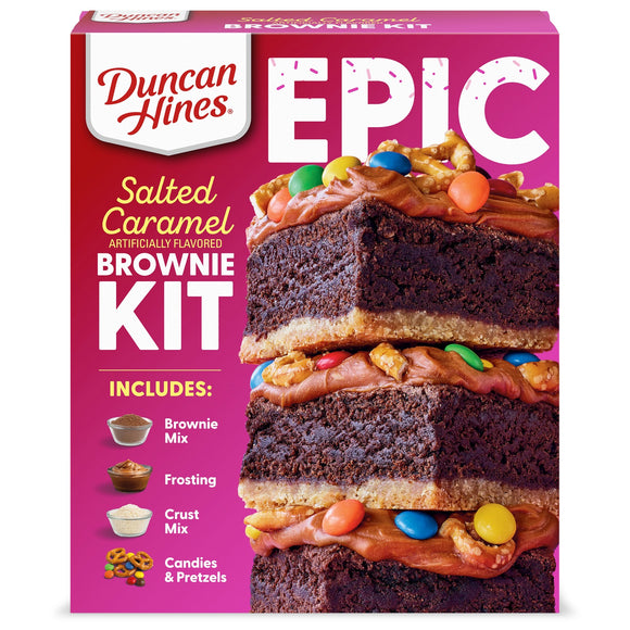 Duncan Hines Epic Salted Caramel Brownie Mix Kit (32.16oz)