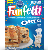 Funfetti Complete Pancake & Waffle Mix with Oreo Cookie Pieces (20oz)