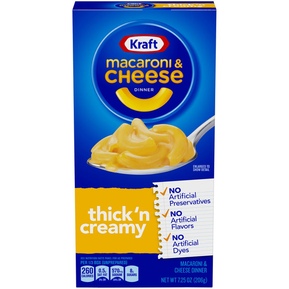 Kraft Thick and Creamy Mac and Cheese Dinner (7.25oz)