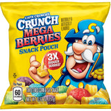Cap'n Crunch's Crunch Mega Berries Sweetened Corn & Oat Snack Pouches (0.52oz)