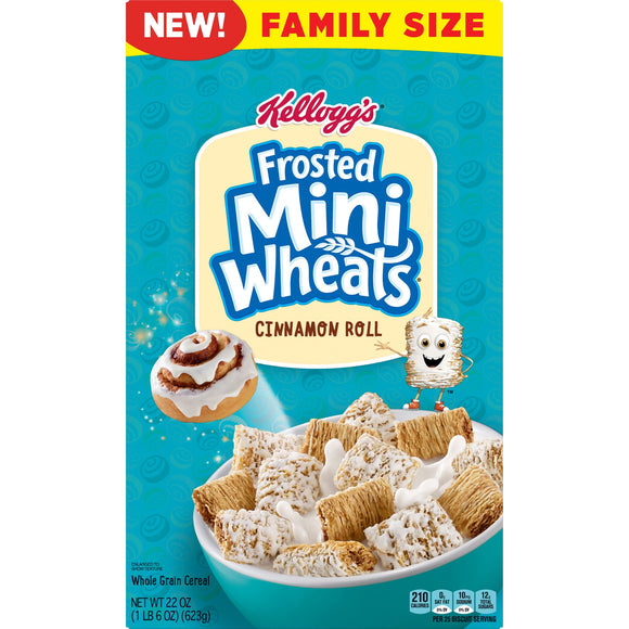 Kellogg's Frosted Mini Wheats Cinnamon Roll (22oz)