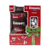Kisses Travel Mug & Milk Chocolate Holiday Gift Set (1.2oz)
