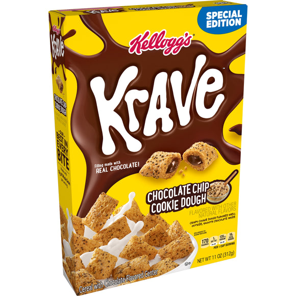 Kellogg's Krave Chocolate Chip Cookie Dough (11oz)