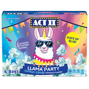 Act II Llama Party Cotton Candy Microwave Popcorn (16.5oz)