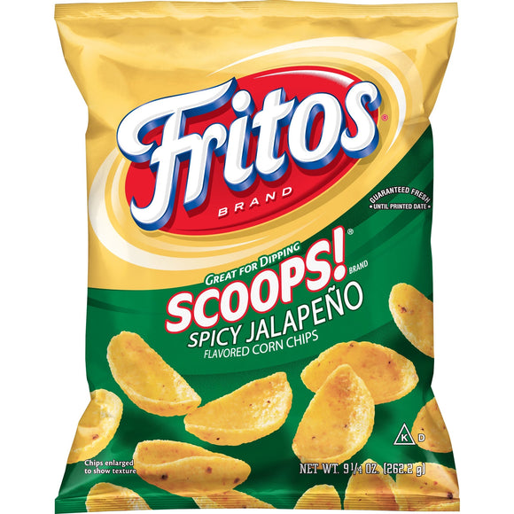 Fritos Scoops Spicy Jalapeno Flavored Corn Chips (9.25oz)