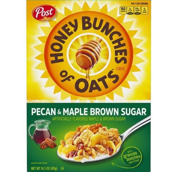 Honey Bunches of Oats Pecan & Maple Brown Sugar (14.5oz)