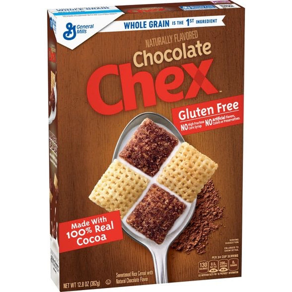 Chex Gluten Free Chocolate Breakfast Cereal (12.8oz)