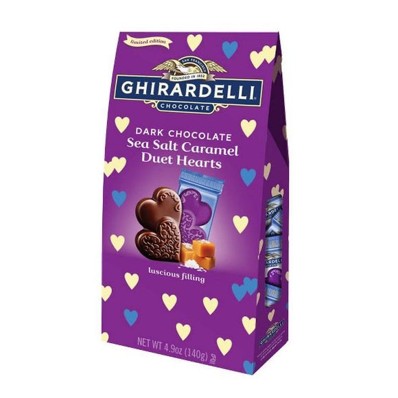 Ghirardelli Valentine's Dark & Sea Salt Caramel Heart Tween Bag (4.9oz)