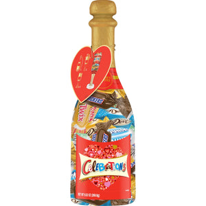 CELEBRATIONS Chocolate Valentine's Day Variety Mix Candy Bars (9.52oz) Champagne Bottle