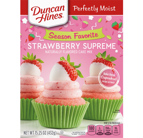 Duncan Hines Strawberry Supreme Cake Mix (15.25oz)